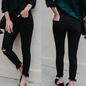 🆕 ➳ KanCan Black Distressed Frayed Jeans